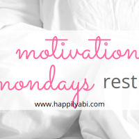 Motivation Monday//Rest