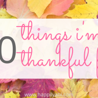 30 Things I'm Thankful For
