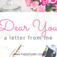 Dear You: A Letter