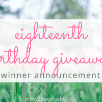 Eighteenth Birthday Giveaway Winners!