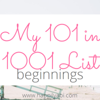 101 in 1001: Beginning