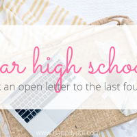 An Open Letter to High School