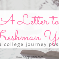 A Letter to Freshman Year